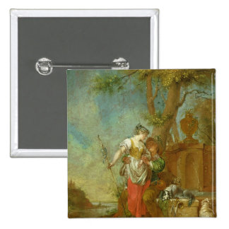 Shepherd and Shepherdess Button
