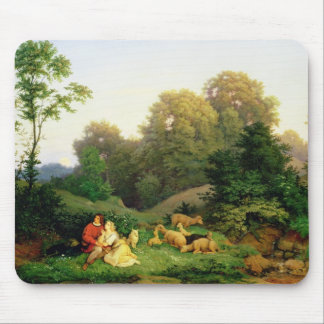 Shepherd and Shepherdess in a German landscape Mouse Pad