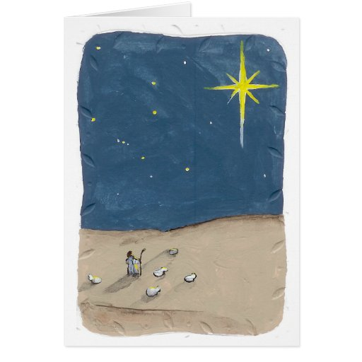 Shepherd and the Star Greeting Card