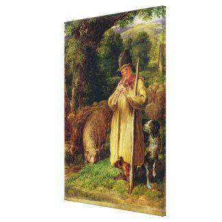 Shepherd Boy, 1831 (oil on panel) Canvas Print