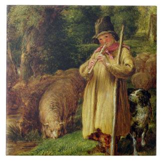Shepherd Boy, 1831 (oil on panel) Ceramic Tile