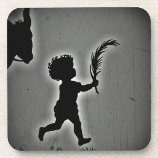 Shepherd Boy Carrying a Palm Frond Coaster
