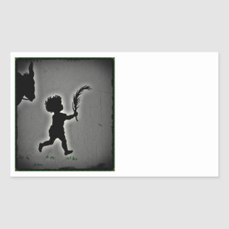 Shepherd Boy Carrying a Palm Frond Stickers