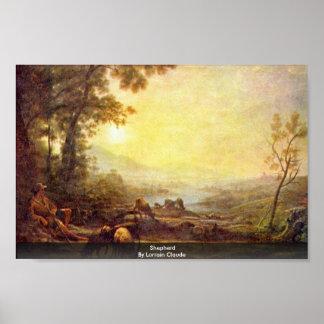Shepherd By Lorrain Claude Print