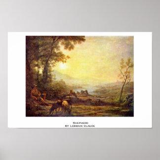 Shepherd By Lorrain Claude Poster
