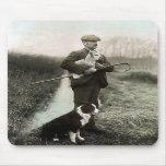 """""""Shepherd con el ~Mousepad del border collie y del Tapete De Ratón"""