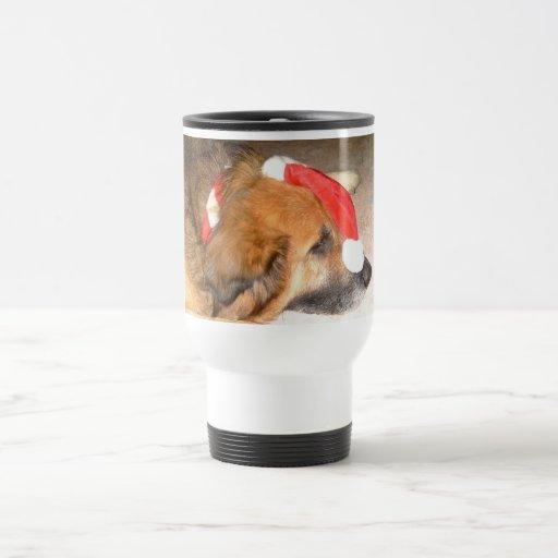 Shepherd dog, dog, merry, Christmas, Christmas 15 Oz Stainless Steel Travel Mug