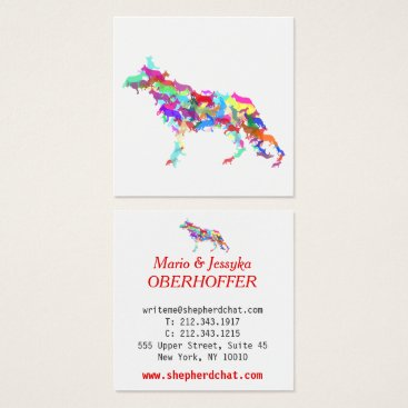 Professional Business Shepherd Dogs Square Business Card
