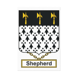 Shepherd Family Crest Gallery Wrap Canvas