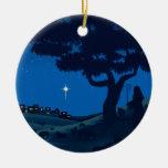 Shepherd on Christmas Eve Ornaments