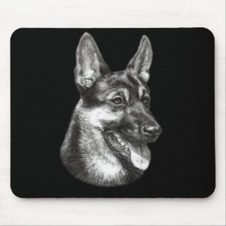 Shepherd Painting Mouse Pad