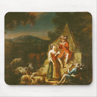 Shepherd Playing a Flute Mouse Pad