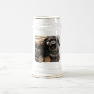 Shepherd Puppies Beer Mug