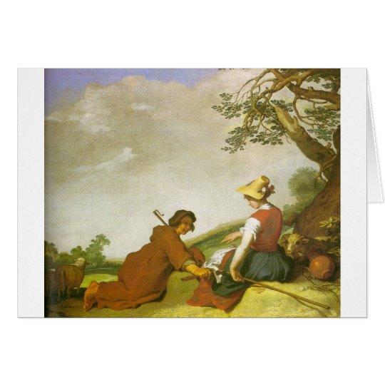 Shepherd & Sherpherdess Card