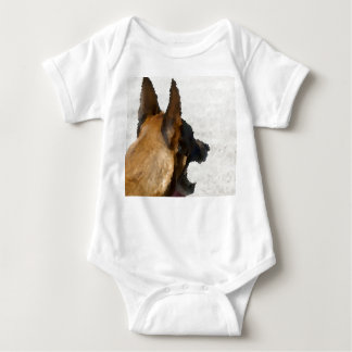 shepherd stained glass head image dog canine baby bodysuit