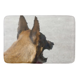 shepherd stained glass head image dog canine bath mat