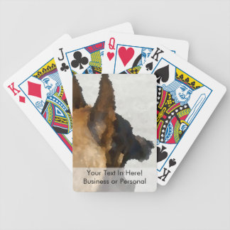 shepherd stained glass head image dog canine bicycle playing cards