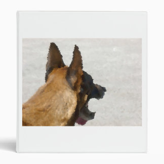 shepherd stained glass head image dog canine binder
