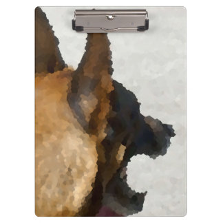 shepherd stained glass head image dog canine clipboard