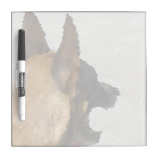 shepherd stained glass head image dog canine Dry-Erase board
