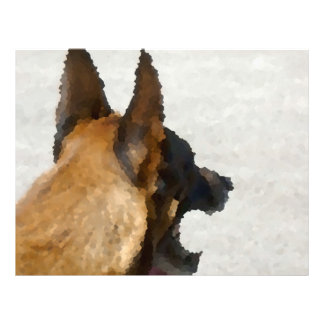 shepherd stained glass head image dog canine letterhead