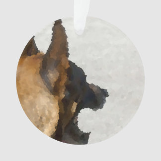 shepherd stained glass head image dog canine ornament