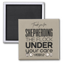 Shepherd the Flock Tan Magnet