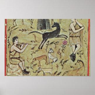 Shepherd Their Flocks By Meister Des Vergilius Rom Poster