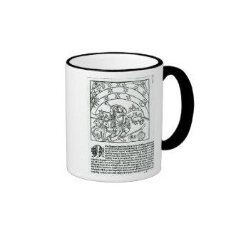 Shepherd under Sun, Moon and Stars Ringer Coffee Mug