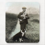 """""""Shepherd With Border Collie and Lamb""""~Mousepad"""
