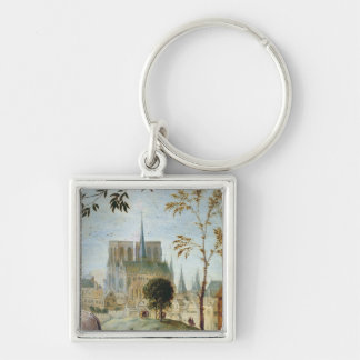 Shepherd with flock and bathers keychains