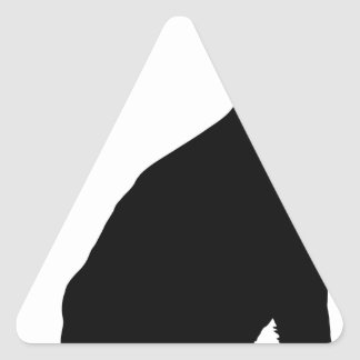 Shepherd with Leash Triangle Sticker
