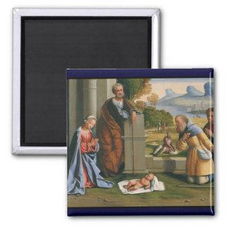 Shepherd Worshiping Baby Jesus Magnet