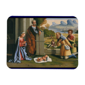 Shepherd Worshiping Baby Jesus Vinyl Magnet