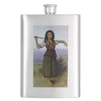 SHEPHERDESS ~ Bouguereau ~ Hip Flask