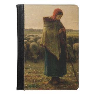 Shepherdess con su multitud, 1863