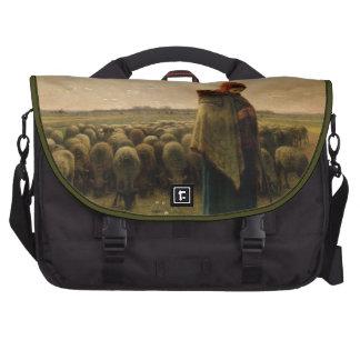 Shepherdess con su multitud, 1863 bolsas de portátil