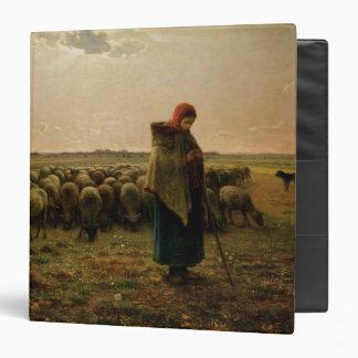 """Shepherdess con su multitud, 1863 carpeta 1 1/2"""""""