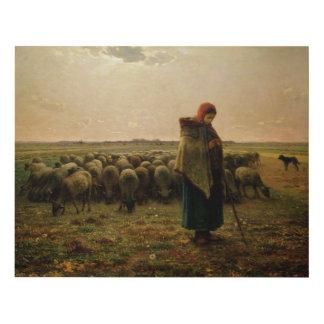 Shepherdess con su multitud, 1863 cuadro