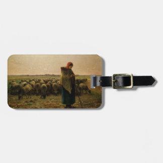 Shepherdess con su multitud, 1863 etiquetas bolsas