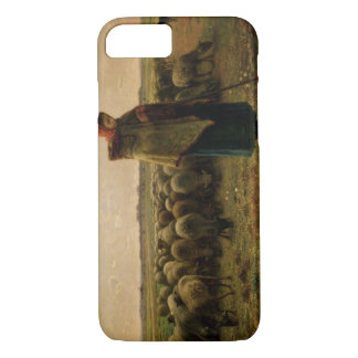Shepherdess con su multitud, 1863 funda iPhone 7