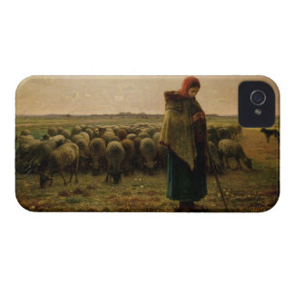 Shepherdess con su multitud, 1863 funda para iPhone 4 de Case-Mate