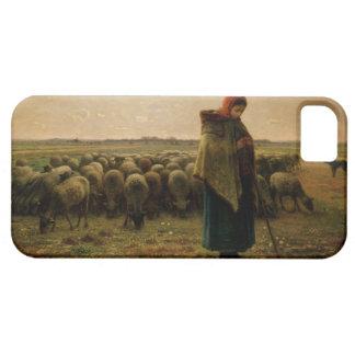 Shepherdess con su multitud, 1863 funda para iPhone SE/5/5s