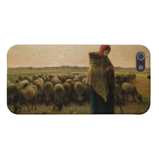 Shepherdess con su multitud, 1863 iPhone 5 carcasa