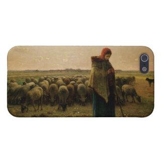 Shepherdess con su multitud, 1863 iPhone 5 funda