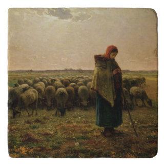 Shepherdess con su multitud, 1863 salvamanteles