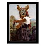 Shepherdess de los ciervos de Bouguereau Tarjeta Postal