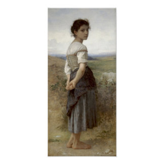 Shepherdess de los jóvenes de Bouguereau-The Póster