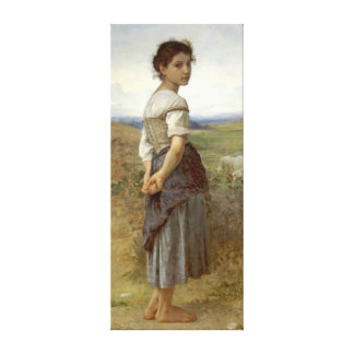 Shepherdess joven 1885 impresión en lona estirada