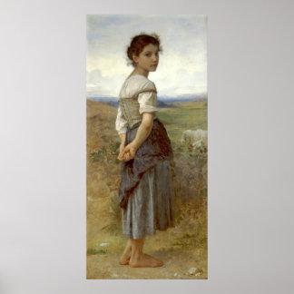 Shepherdess joven 1885 póster